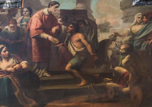 San Lorenzo in Fonte (Santi Lorenzo e Ippolito), Św. Wawrzyniec rozdający chleb