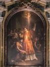 San Lorenzo in Fonte (Santi Lorenzo e Ippolito),  Chrzest Hipolita - ołtarz główny