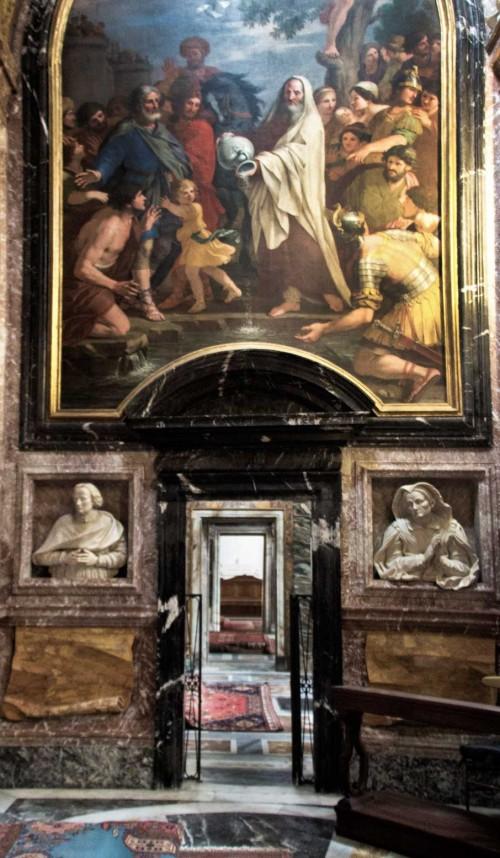 Basilica of San Lorenzo in Lucina, Fonseca family chapel, Giacinto Gimignani, Elisha Pouring Salt into the Bitter Fountain at Jericho