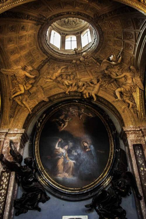 San Lorenzo in Lucina, kaplica rodu Fonseca, sklepienie i ołtarz główny - Nawiedzenie, Lodovico Gimignani