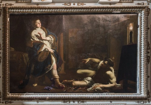 San Lorenzo in Lucina, kaplica św. Franciszka i św. Hiacynty Marescotti, Kuszenie św. Franciszka, Simon Vouet