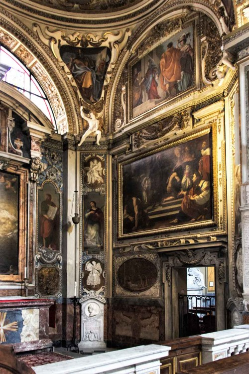 San Lorenzo in Lucina, kaplica św. Franciszka i św. Hiacynty Marescotti, po prawej - Porzucenie szat przed św. Franciszka, Simon Vouet