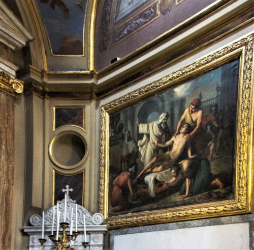 Basilica of San Lorenzo in Lucina, Chapel of St. Lawrence, The Martyrdom of St. Lawrence, Giuseppe Creti