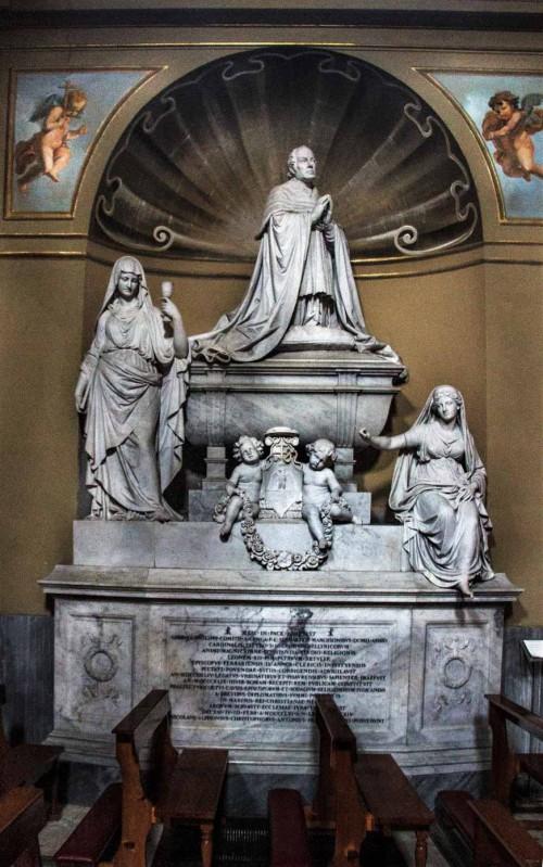 Basilica of San Lorenzo in Lucina, tombstone of cardinal Sermattei
