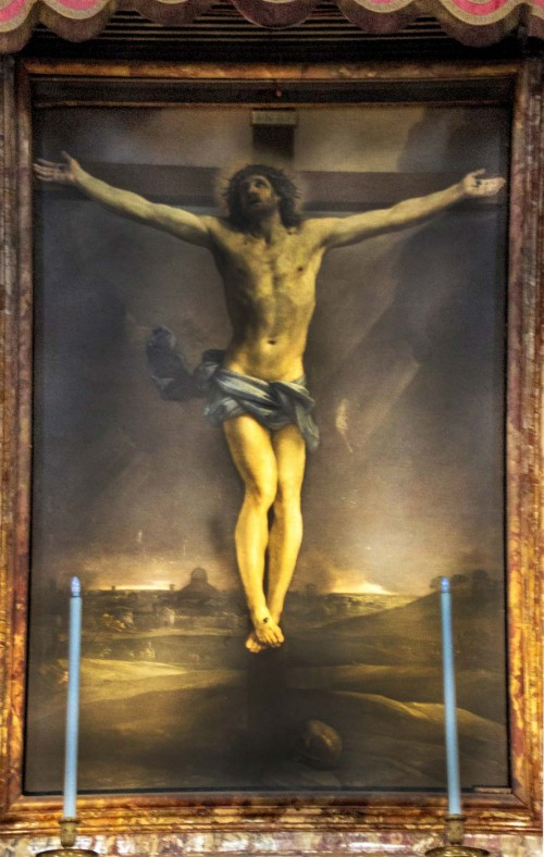 Basilica of San Lorenzo in Lucina, painting from the main altar – The Crucifixion, Guido Reni