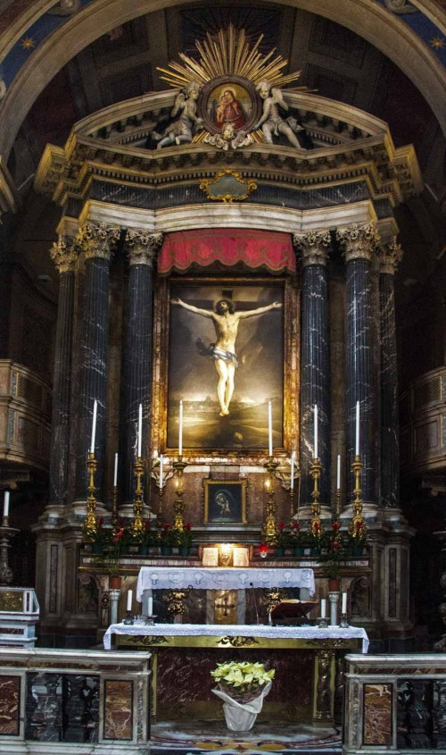 Basilica of San Lorenzo in Lucina, main altar, Guido Reni, The Crucifixion