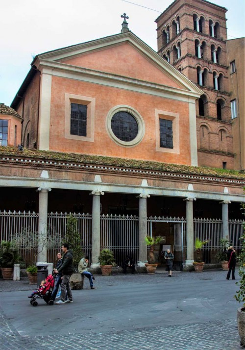 Basilica of San Lorenzo in Lucina, present-day view, after cleaning of the façade