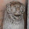 Basilica San Lorenzo in Lucina, one of two antique lions