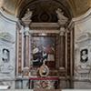 San Lorenzo in Lucina, kaplica św. Karola Boromeusza, Karol Boromeusz w procesji św. Krzyża, Carlo Saraceni