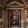 San Lorenzo in Lucina, kaplica św. Wawrzyńca - Św. Lucyna pokazująca Wawrzyńcowi plany kościoła, Sigismondo Rosa