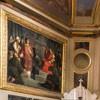 San Lorenzo in Lucina, kaplica św. Wawrzyńca, Wawrzyniec z biednymi przed cesarzem Walerianem, Giuseppe Creti