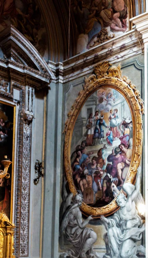 Church of San Lorenzo in Miranda, frescoes depicting the life of the Virgin Mary, unknown artist, mid-XVIII century