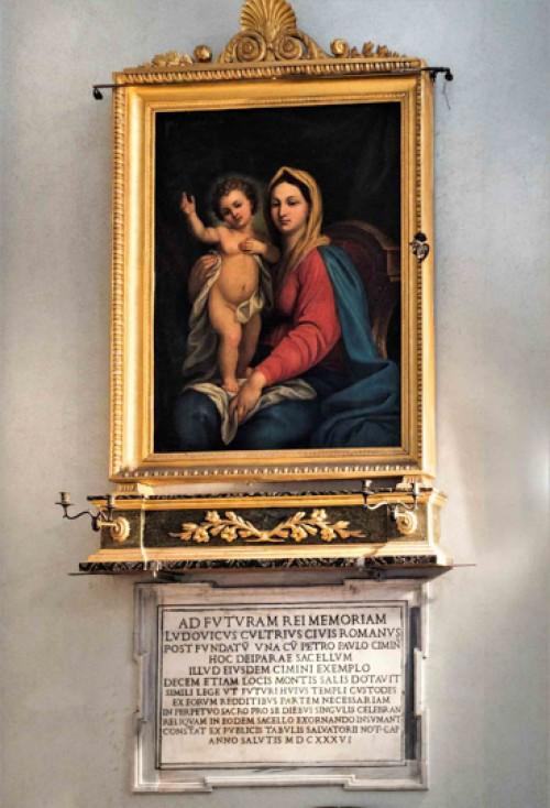 San Lorenzo in Miranda, Madonna z Dzieciątkiem, malarz nieznany, 2. poł. XIX w.