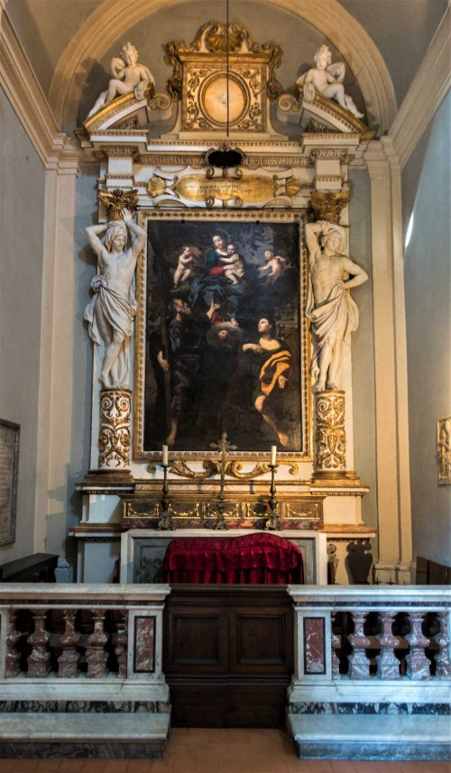Church of San Lorenzo in Miranda, side altar, Our Lady with SS. Philip and James, Domenichino