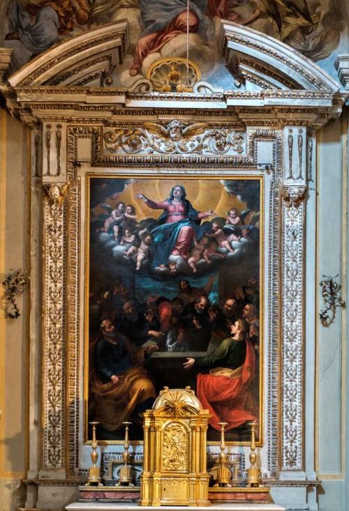San Lorenzo in Miranda, ołtarz boczny z obrazem  Wniebowzięcia Marii, malarz nieznany