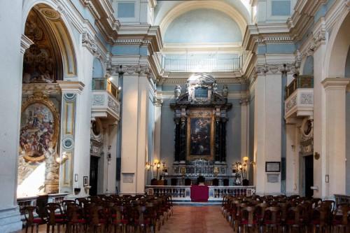 Church of San Lorenzo in Miranda reconstructed in the XVII century