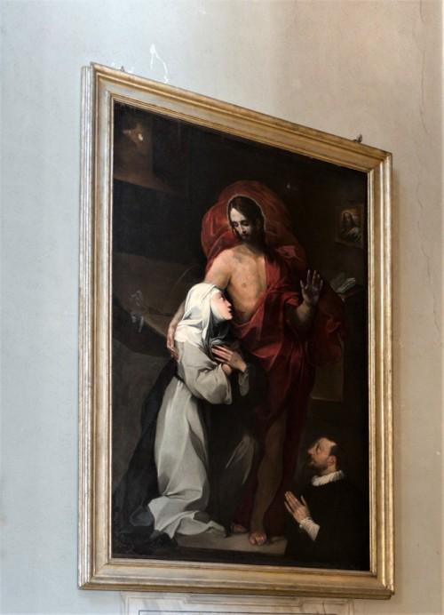 San Lorenzo in Miranda, Św. Katarzyna ze Sieny całująca rany Chrystusa, koniec XVI w.