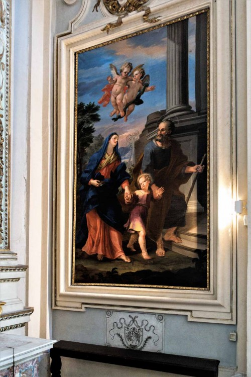 Church of San Lorenzo in Miranda, Holy Family, beginning of the XVIII century, unknown painter