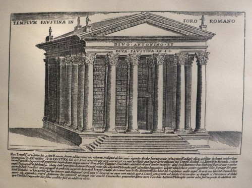 Świątynia Antonina Piusa i Faustyny, rep. Nobile Collegio Chimico Farmaceutico Universitas Aromatoariorum Urbis