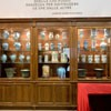 Church of San Lorenzo in Miranda, exhibition of pharmaceutical dishes in the museum on the church ground floor