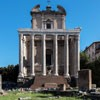 Church of San Lorenzo in Miranda, façade of the church seen from Forum Romanum