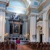 Widok wnętrza kościoła San Lorenzo in Miranda