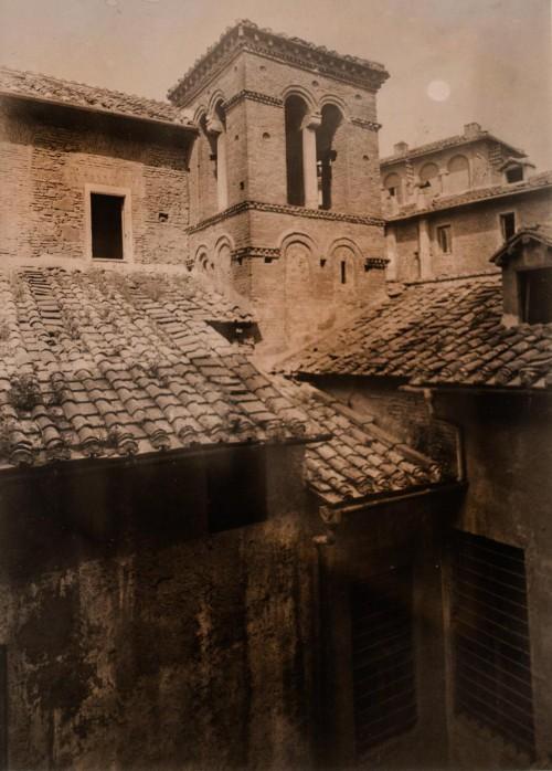 San Lorenzo in Piscibus, kampanila kościoła, 1937 r., Museo di Roma