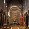 San Lorenzo in Piscibus, wnętrze dzisiejszego kościoła, rekonstrukcja z lat 50. XX w.
