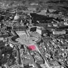 View of the Borgo prior to 1922, Piazza Rusticucci marked in pink, pic. Wikipedia