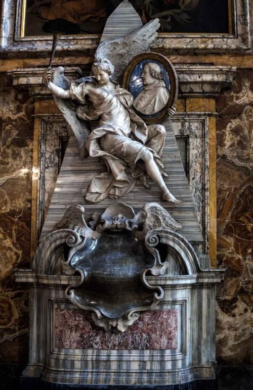 San Marcello, barokowy pomnik nagrobny kardynała Fabrizio Paolucciego, Pietro Bracci