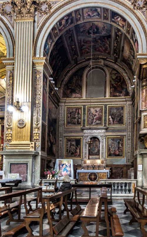 Church of San Marcello, frescoes by Francesco Salviati, in the center Madonna with Child