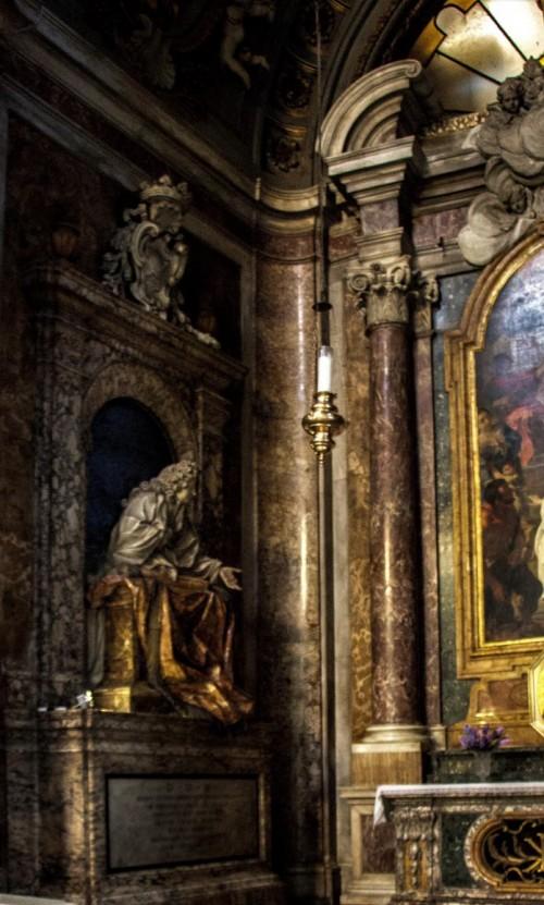 Church of San Marcello, Muti Chapel, tombstone of Giovanni Muti