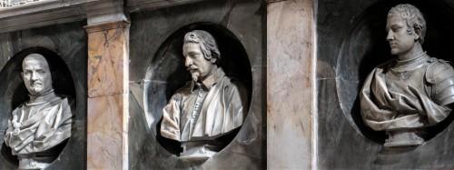 San Marcello, kaplica rodu Frangipane, popiersia nagrobne rodu, Alessandro Algardi