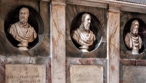 Church of San Marcello, Frangipane family chapel, busts of family representatives