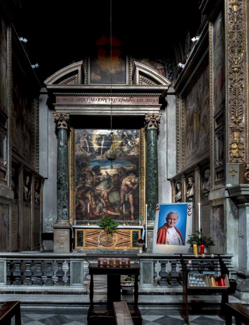 Church of San Marcello, Chapel of St. Paul (Frangipane family), The Conversion of St. Paul, Taddeo Zuccari, 1558