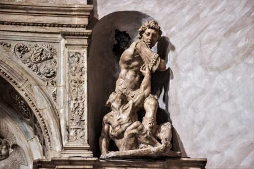 Church of San Marcello, tombstone of Cardinal Giovanni Michiel and Antonio Orso, Jacopo Sansovino, fragment