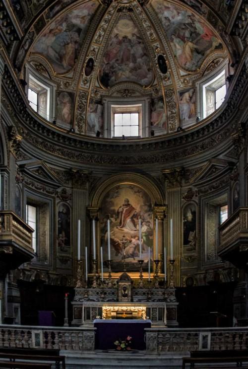 San Marcello, ołtarz główny, Gloria św. Marcelego, XIX w.