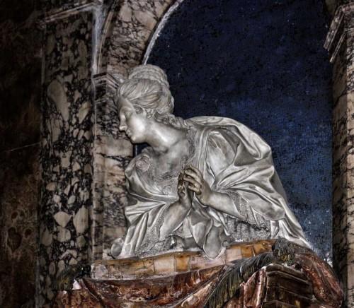 Church of San Marcello, monument of Maria Colomba Vicentini, Bernardino Cametti, fragment