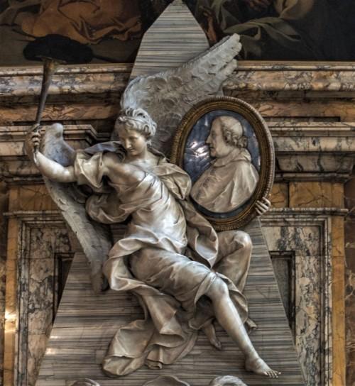 Church of San Marcello, funerary monument of Cardinal Fabrizio Paolucci, Pietro Bracci, fragment