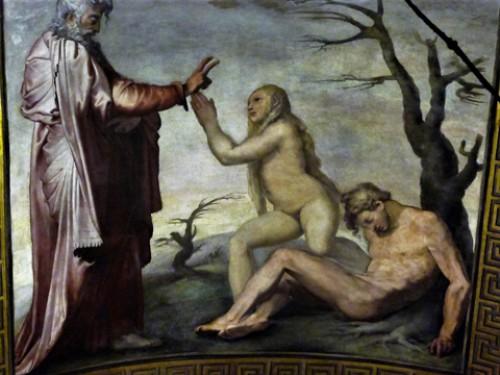 Church of San Marcello, The Creation of Eve, fresco by Daniele da Volterra, Chapel of the Cross