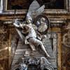 Church of San Marcello, Baroque funerary monument of Cardinal Fabrizio Paolucci, Pietro Bracci