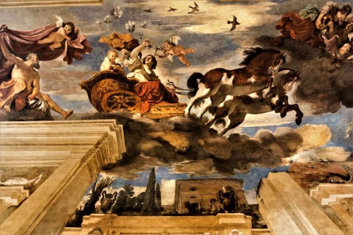 Casino Ludovisi, ceiling decorations of the salon on the ground floor, Guercino, Aurora, fragment