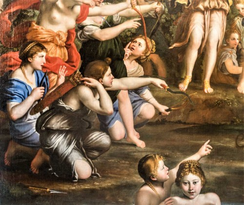 Łowy Diany, Domenichino, fragment, Galleria Borghese