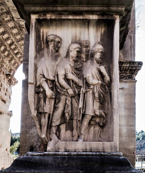 Triumphant arch of Emperor Septimius Severus, base with images of slaves