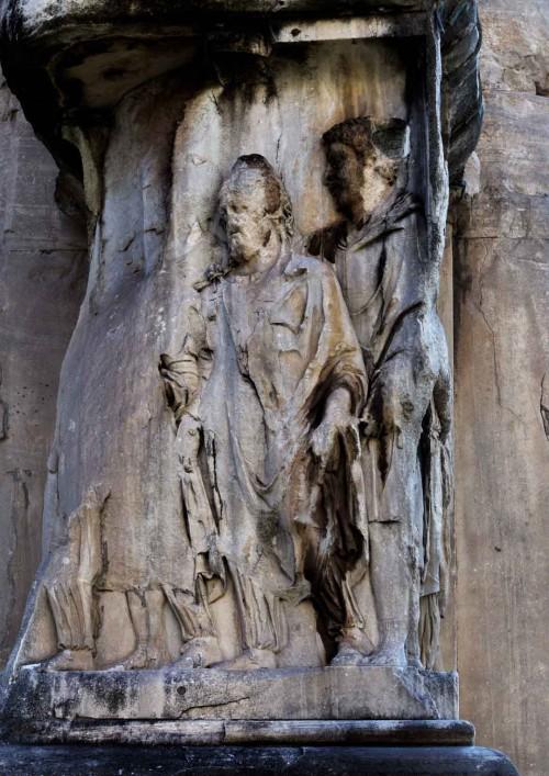 Łuk triumfalny cesarza Septymiusza Sewera, dekoracje cokołu