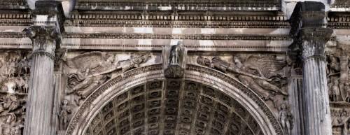 Triumphant arch of Emperor Septimius Severus, arch of the main passage