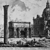 Triumphant arch of Emperor Septimius Severus, G.B. Piranesi, XVIII century