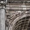 Triumphant arch of Emperor Septimius Severus, one of the composite capitols
