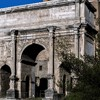 Triumphant arch of Emperor Septimius Severus seen from Forum Romanum