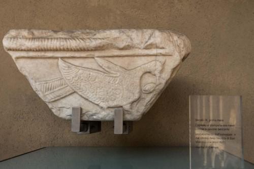 Kapitel z dawnej nastawy ołtarzowej z IX w., Museo Nazionale, Palazzo Venezia